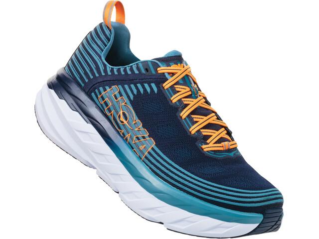Hoka One One Bondi 6 Running Shoes Herr black iris/storm blue
